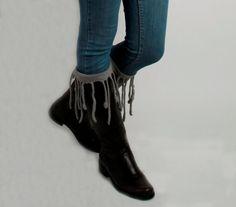 fringe boot socks - Google Search