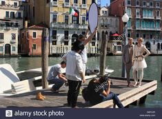 Professional Fashion Photo Shooting In Venice, Italy Stock Photo, Royalty Free Image: 55811471 - Alamy