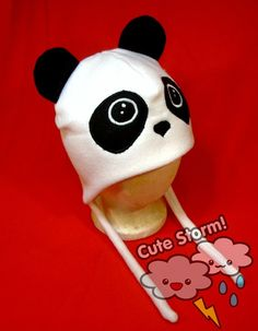 Panda Hat with Ear Flaps by CuteStorm, $23.00
