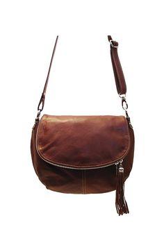 Floto Brown Trastevere Hobo Bag in Italian Nappa Leather - handbag, shoulder bag, purse