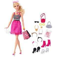 """Barbie with Glam Accessories Toys """"R"""" Us Exclusive Doll, 2015 ($21 at Toysrus.com)"""