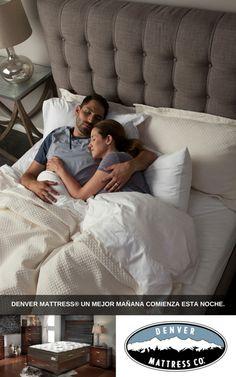 Denver Mattress® Un mejor mañana comienza esta noche.  Ven a Denver Mattress®, y déjanos ayudarte a encontrar el colchón ideal para ti, que trabaja duro, y a veces le ahorra hasta un 50%.
