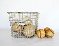 Vintage Wire Locker basket  Gym Basket  by NostalgicArtifacts - love this, need it for cheaper :)