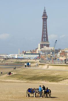 Blackpool  Lancashire England I can remember the donkey rides.