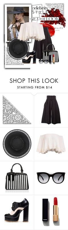 """""""Untitled #1192"""" by triced ❤ liked on Polyvore featuring Urban Decay, J.W. Anderson, Alexander McQueen, Chanel, GetTheLook and hats"""