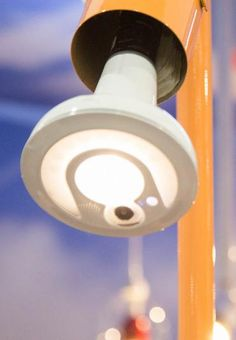 The Sengled Snap LED lightbulb, which has a built-in security system.