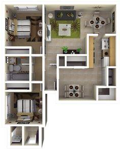 Well Designed 3D House Plan Design Ideas | Plantas De Casas, House E Ideias