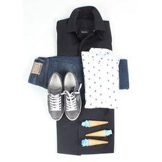 Nello store Poncarale - Collezione SS16 Il perfetto capospalla da accompagnare a camicie dal taglio sartoriale e da abbinare a pantaloni in jeans easy chic e scarpe sportive, ecco l'uomo #Feroldi  Soprabito #Herno  Jeans #Siviglia  camicia in lino #SSNY  Sneakers #PhilippeModel