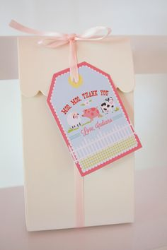 girlie farm party printable favor tags
