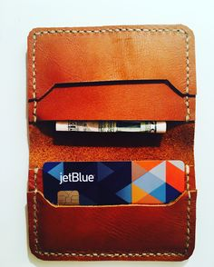 Leather credit card carrier