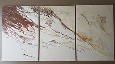 "Biollay Vanina ""Triptyque"" 3 x(100 x65) Acrylique , modeling past, vernis, pigments"