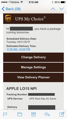 tracking number iphone app