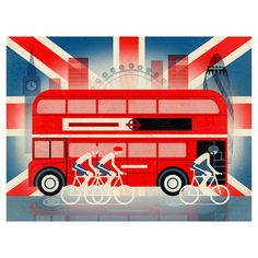 A perfect piece for Anglophiles abroad and Londoners alike, this colourful print showcases the city's most iconic scenes in bright style. Pair it with other ...