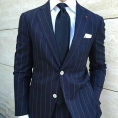A Sartorial Guide to Menswear For The Gentleman Mens Fashion Blog, Suit Fashion, Mens Attire, Mens Suits, Terno Slim, Look Formal, Pinstripe Suit, Elegant Man, Suit And Tie