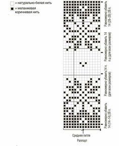 Brown Cardigan with Jacquard Yoke Knitted Mittens Pattern, Knit Mittens, Knitting Charts, Knitting Patterns, Fair Isle Chart, Cross Stitch Charts, Crochet Clothes, Knit Crochet, Crafts