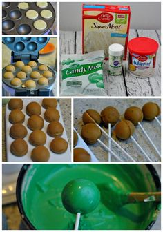 Patrick's Day Cake Pops Recipe! – Cakes and cake recipes Babycakes Cake Pop Maker, Chocolate Cake Pop Recipe For Cake Pop Maker, Cake Pop Recipes, Donut Maker Recipes, Babycakes Recipes, Chocolate Cake Pops, Mini Cakes, Cupcake Cakes, Baby Cakes