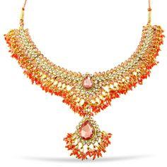 Pink and Gold Choker Necklace $49 www.marigoldaustin.com Gold Choker Necklace, Marigold, Pink And Gold, Chokers, India, Diamond, Jewelry, Goa India, Jewlery