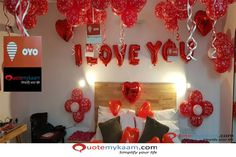 Best Romantic Room Decoration ideas for an unforgettable evening. Surprise your partner with our exciting romantic room decor & set up just for you two. Romantic Room Decoration, Romantic Bedroom Decor, Balloon Decorations, Birthday Decorations, Romantic Surprise, Romantic Evening, Baby Decor, Ornament Wreath, Home Bedroom