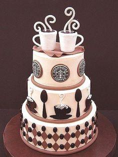 Hvis nogen nogensinde skulle overraske mig med en kage, så måtte den gerne se sådan ud og skulle da vist også nok lige smage af kaffe. <3