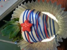 Stars and stripes Chocolate Covered Strawberries 2014 Krystals kitchen
