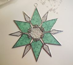 Stained Glass Star. Stained Glass Snowflake. by jacquiesummer