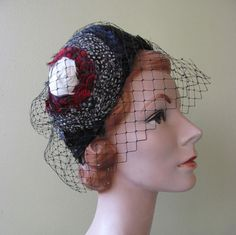 Vintage 1950s Jack McConnell Feather Hat by ranchqueenvintage, $275.00