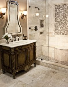Home Interior Bathroom 60 Simple Traditional Bathroom Design Ideas bathroom Interior Bathroom 60 Simple Traditional Bathroom Design Ideas bathroom Beautiful Bathrooms, Modern Bathroom, Small Bathroom, Master Bathroom, Fancy Bathrooms, British Bathroom, Tuscan Bathroom, Bathroom Styling, Bathroom Interior Design