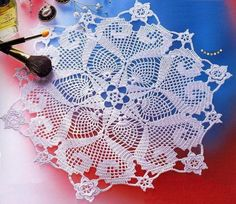 FREE DIAGRAM ~ SEVERAL OTHER DIAGRAMS ~ ......................... Crochet Art: Doily - Crochet Doily - Gorgeous Design