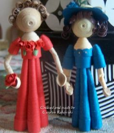Paper Lace n Card Nook: Quilled Dolls - Quilling in Fashion Again