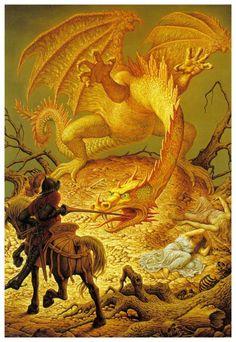 johfra bosschart ︎Artist, Art, Surrealism ︎ Leif Podhajsky Johfra Bosschart was a Dutch modern surrealist painter. Johfra described his works as. Le Zodiac, Saint George And The Dragon, Esoteric Art, Dragon Slayer, Science Fiction Art, Dutch Artists, Modern Artists, Fantasy Landscape, Fantastic Art