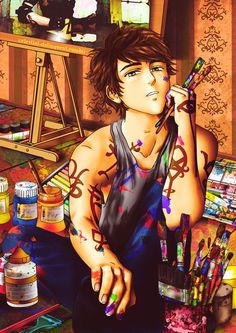 Julian Blackthorn from The Dark Artifacts by Cassandra Clare. Artwork by Celestian-Deliquent: http://celestial-delinquent.tumblr.com/post/47465568004/julian-blackthorn-i-think-this-is-the-first-time