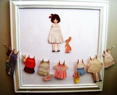 Belle and Boo flannel board:  A tutorial for how to turn any paper dolls into fabric flannel board dolls.