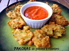 pa mojar pan!: Pakoras de patata con chutney de tomate