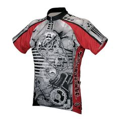 Primal Mens Cycling Jersey Crankin Stein Raglan Cut with 34 Hidden Zipper and 3 Rear Pockets Large *** See this great product.Note:It is affiliate link to Amazon.