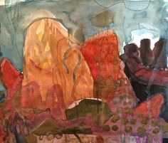 Meagan Jacobs Artist - Dream Seed - Gouache on paper