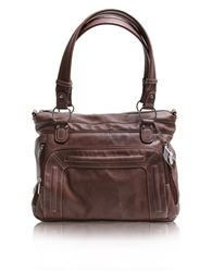 """Epiphanie Ginger bag in caramel - $164.99  14""""F x 8""""W x 10""""H. Just wish it came in a brighter color, other than bisque."""