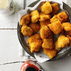 Spicy Chicken Nuggets Recipe -We devour these golden brown chicken nuggets at least once a week. If you want to tone down the heat, skip the chipotle pepper. —Cheryl Cook, Palmyra, Virginia