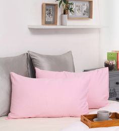 Buy Dreamscape Pink Cotton 27 x 17 Inch Pillow Cover - Set of 2  Online: Shop from wide range of Pillow Covers Online in India at best prices. ✔Free Shipping✔Easy EMI✔Easy Returns