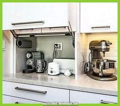 Smart Creative Hidden Kitchen Storage Design You Must Have - Paradise Home Kitchen Interior, Hidden Kitchen, Kitchen Appliance Storage, Small Kitchen, Custom Kitchen Cabinets, Kitchen Storage Space, Diy Kitchen, Kitchen Renovation, Kitchen Design