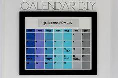 Aprenda a fazer um calendário-quadro: além de enfeitar a casa, você não perde nenhum compromisso!