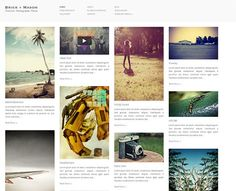 This masonry WordPress template offers infinite scrolling, light and dark skins, Google custom fonts support, easy thumbnail images, a slideout sidebar, and lots of other cool features.