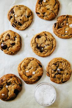 A Hummingbird High recipe for homemade slice-and-bake chocolate chip cookies adapted from Tara O'Brady's Basic, Great Chocolate Chip Cookies from Seven Spoons.