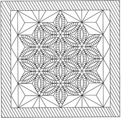 Diamond Wedding Ring Line Drawing, Quiltworx.com, Made by Quiltworx.com.