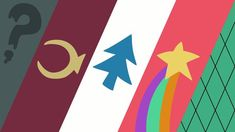 Minimalistic wallpaper based on Gravity Falls main characters clothing made in Inkscape. Gravity Falls Patterns and Logos Fall Wallpaper Tumblr, 3840x2160 Wallpaper, Original Wallpaper, Computer Wallpaper, Disney Wallpaper, Dipper Pines, Dipper E Mabel, Fall Background, Background Pictures