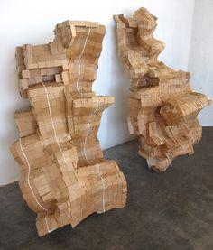 Process: Sculpture and Installation Cardboard Sculpture, Cardboard Paper, Cardboard Furniture, Cardboard Crafts, Abstract Sculpture, Sculpture Art, Organic Sculpture, Plastic Art, Art Challenge