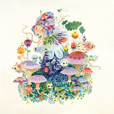 Fantastical Flora & Fauna - Aqua on Behance