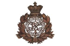 Badge. Scottish. 1st or the Royal Scots Regiment, Victorian Officer's shako plate 1869-1878. A fi