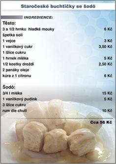 Levně a chutně - recept na Staročeské buchtičky se šodó Slovak Recipes, Czech Recipes, Keto Bread, What To Cook, Thing 1, Food And Drink, Cooking Recipes, Homemade, Baking