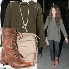 """sarah hyland heading out to the movies at the arclight cinemas with matt prokop."" by cla-90 ❤ liked on Polyvore"
