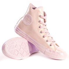 Converse Chuck Taylor All Star Iridescent Rubber Womens Trainers in Light Purple